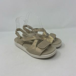 Grasshoppers Ortholite Comfort Strappy Gold Sandal